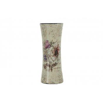 Ваза декоративная цветочный каприз 10*10*24,5см. (керамика) (транспортная