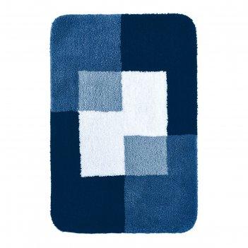 Коврик для ванной комнаты coins, синий, 60x90 см