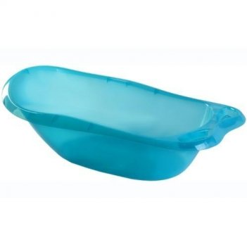 Прозрачная голубая детская ванночка 2592