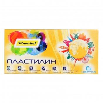Пластилин 6цв 90гр silwerhof 956153-06 солнечная коллекция стек карт/кор 1