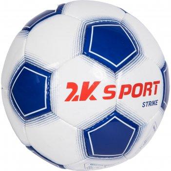 Мяч футбольный 2k sport strike white/royal/red, размер 3