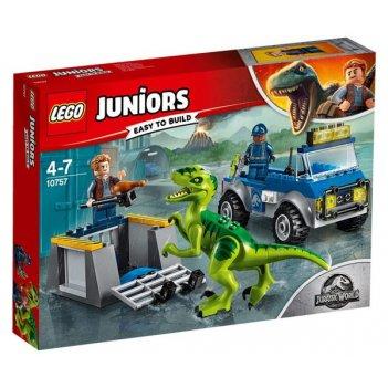 Конструктор lego juniors грузовик спасателей для перевозки раптора