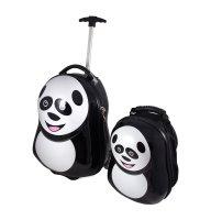 """Набор дорожный """"панда"""": рюкзак, чемодан  33*24*7см, 41*28*24см"""