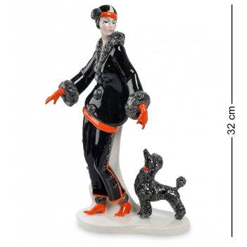 Jp-38/12 фигурка дама с собакой (pavone)