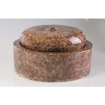 Настольный фонтан «орбита» темно-коричневый