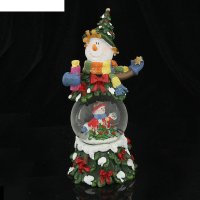 Сувенир снежный шар снеговик-лесовик