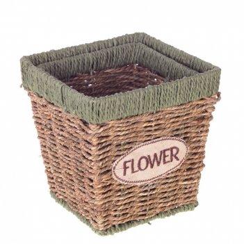 Кашпо flower, набор из 2-х шт, l15/13 w15/13 h16/14,5 см