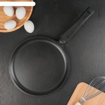 Сковорода блинная «премьера», d=26 см, пластиковая ручка, антипригарное по