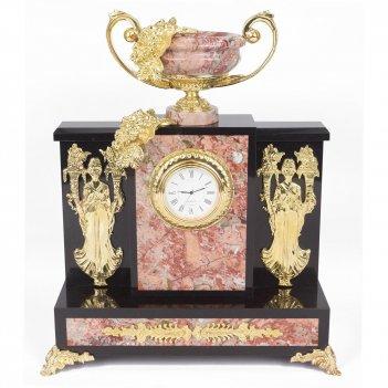 Часы изобилие креноид змеевик 260х130х310 мм 5800 гр.