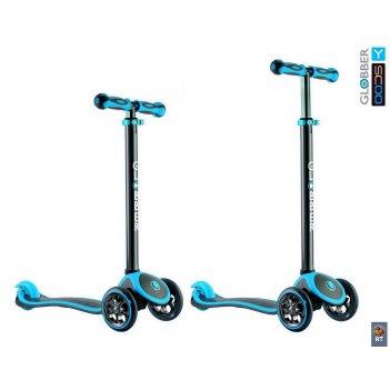 Y-scoo rt globber my free titanium neon blue с блокировкой колес