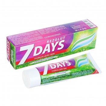 Зубная паста 7 days комплексная тройное действие, 100 мл