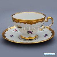 Набор для чая мейсенский цветок 1016(чашка210мл.+блюдце) н