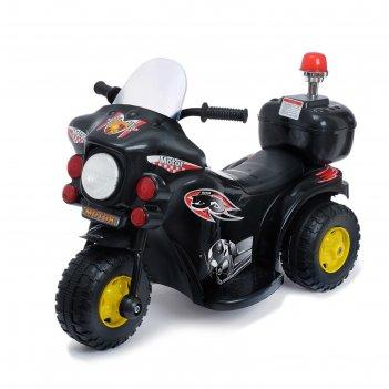 Электромобиль мотоцикл шерифа, цвет черный