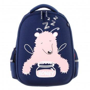 Рюкзак каркасный bruno visconti 38 х 30 х 20 см, медведь-эльф, синий