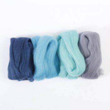 Набор шерсти для валяния волна