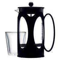 Кофейник с прессом, объем: 1 л, материал: стекло, пластик, нержавеющая ста
