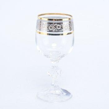 Набор рюмок для водки bohemia клаудия панто платина v-d 90 мл(6 шт)