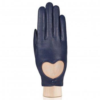 Перчатки женские, размер 6.5, цвет синий