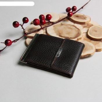 Зажим для денег z-8  10*1*8, карман д/мелочи и кредитных карт, флотер кори