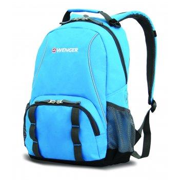 Рюкзак wenger цв. голубой/серый