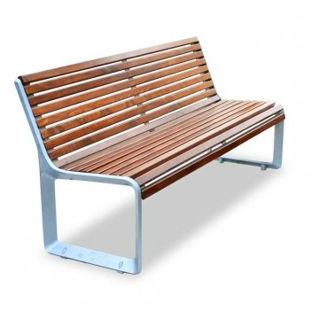 Скамейка алюминиевая «варшава»