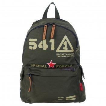 Рюкзак школьный bruno visconti 40*30*17 мал милитари стиль, тёмно-зелёный