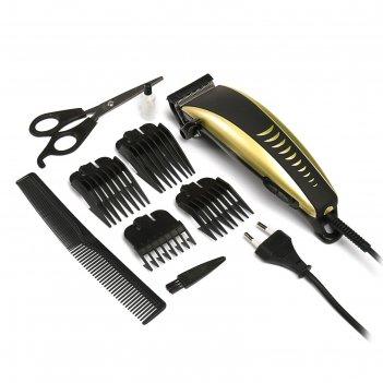 Машинка для стрижки волос luazon модель lst-6, 4 уровня стрижки, 15 вт, зо