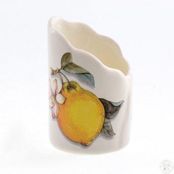 Подставка для зубочисток 8см artigianato ceramico лимоны
