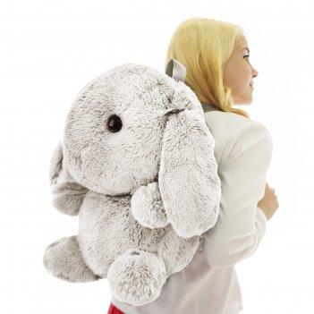 Мягкая игрушка-рюкзак «зайчик банни», 40 см, цвет молочный