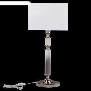 Настольная лампа ontario, 1x60вт e27 хром