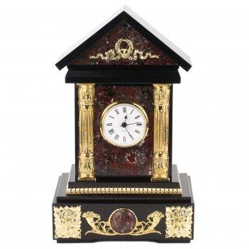 Часы домик креноид долерит бронза 190х150х310 мм 5000 гр.