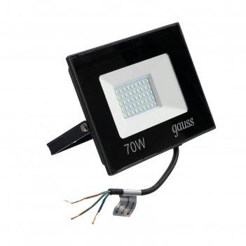 Прожектор светодиодный gauss elementary, 70 вт, ip65, 6500 к, 4370 лм, хол