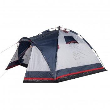 Палатка кемпинговая «alcor 3», синий/серый