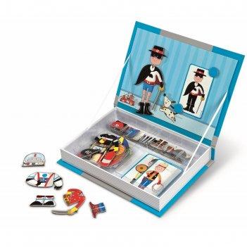 Магнитная книга-игра мальчишки в костюмах: 34 магнита, 8 костюмов