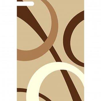 Ковёр фризе пп sunrise v810, 2,5*5,5 м, прямоугольный, beige
