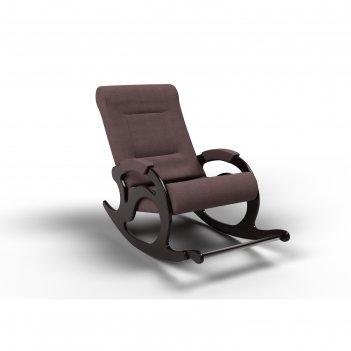 Кресло-качалка «тироль», 1320 x 640 x 900 мм, ткань, цвет кофе с молоком