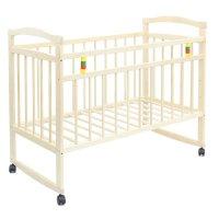 Детская кроватка колибри - эко 3 с откидной планкой, цвет берёза