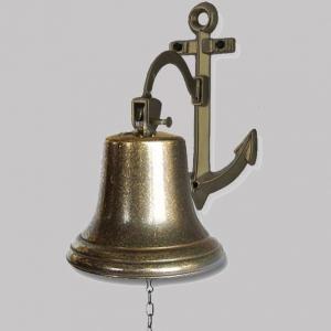 Рында - колокол корабельный на кронштейне якорь