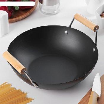 Сковорода-wok 25 см жаклин, деревянные ручки