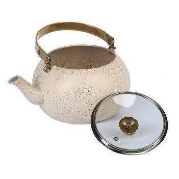 Чайник с а/п покрытием 3 л./беж.