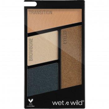 Палетка теней для век wet n wild color icon eyeshadow quad, тон e343b