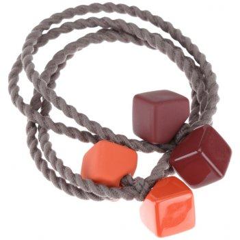 Резинки для волос dewal beauty цветные кубики, мини (2 шт.)