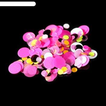 Камифубуки для декора ногтей, 1гр, цвет жёлтый/розовый/чёрный