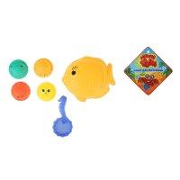 Песочный набор морской 6 предметов: формочки 5 шт, сито