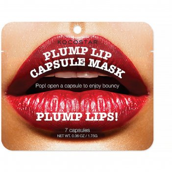 Сыворотка для увеличения объема губ kocostar, 7 капсул