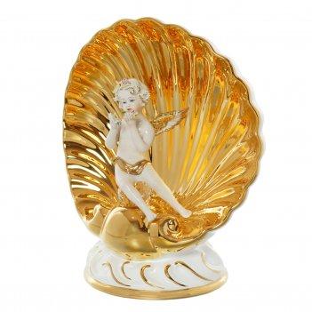 Статуэтка ракушка с ангелом bruno costenaro shells