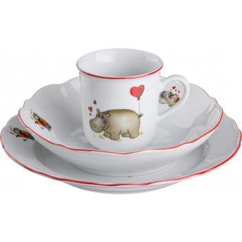 Набор посуды на 1 персону 3 пр.зверята:кружка 25...