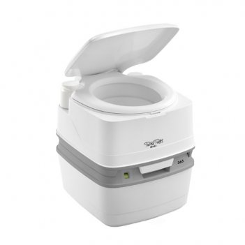 Биотуалет для дачи porta potti qube 365 white с индикатором серый