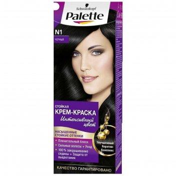 Крем-краска для волос palette, тон n1, чёрный