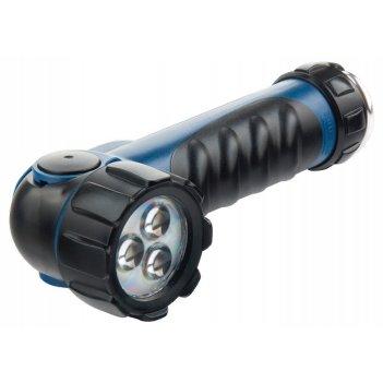 Фонарик светодиодный, противоударный, влагозащищенный, 3 ярких led, 2 х lr